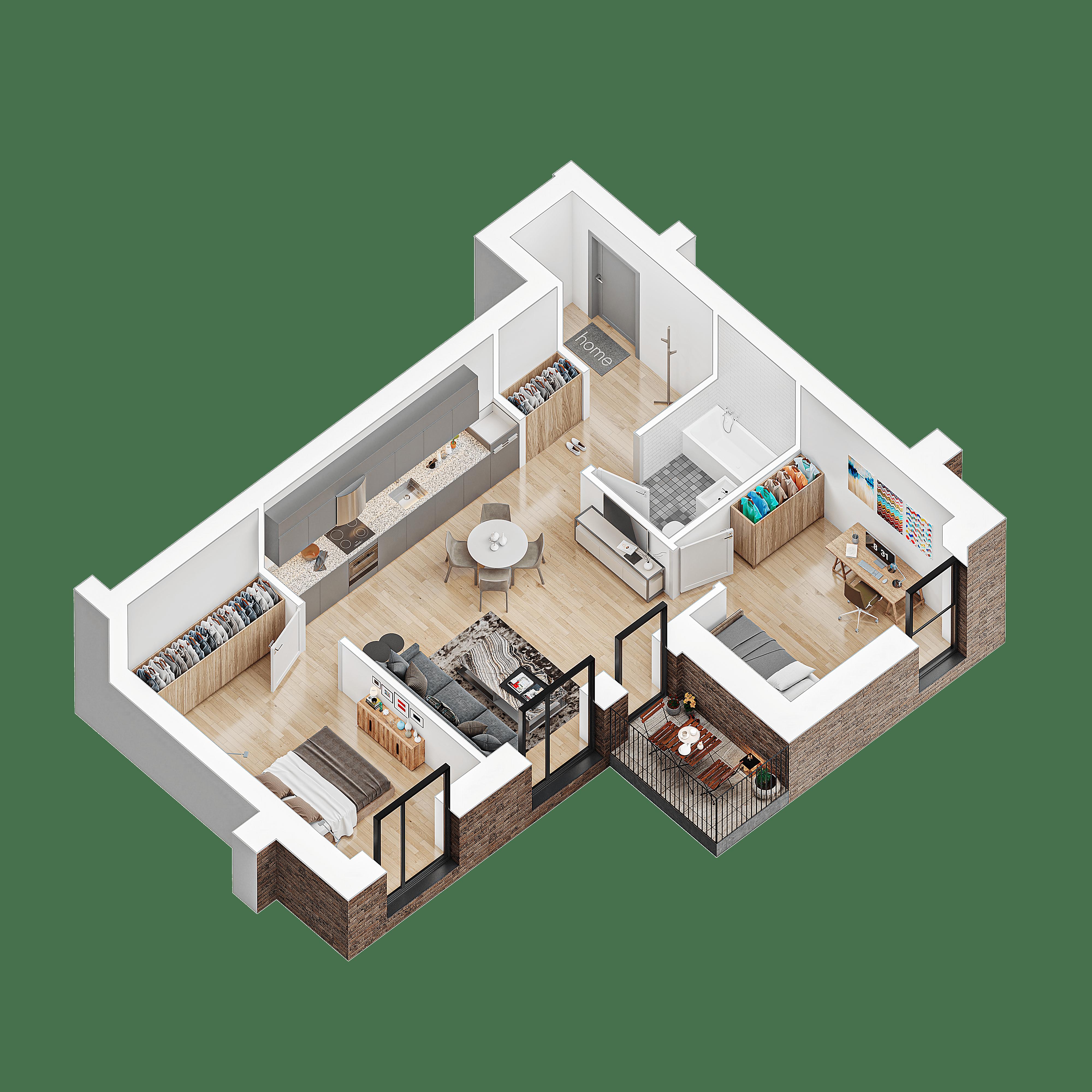 3 kambariu butas su terasa klaipeda