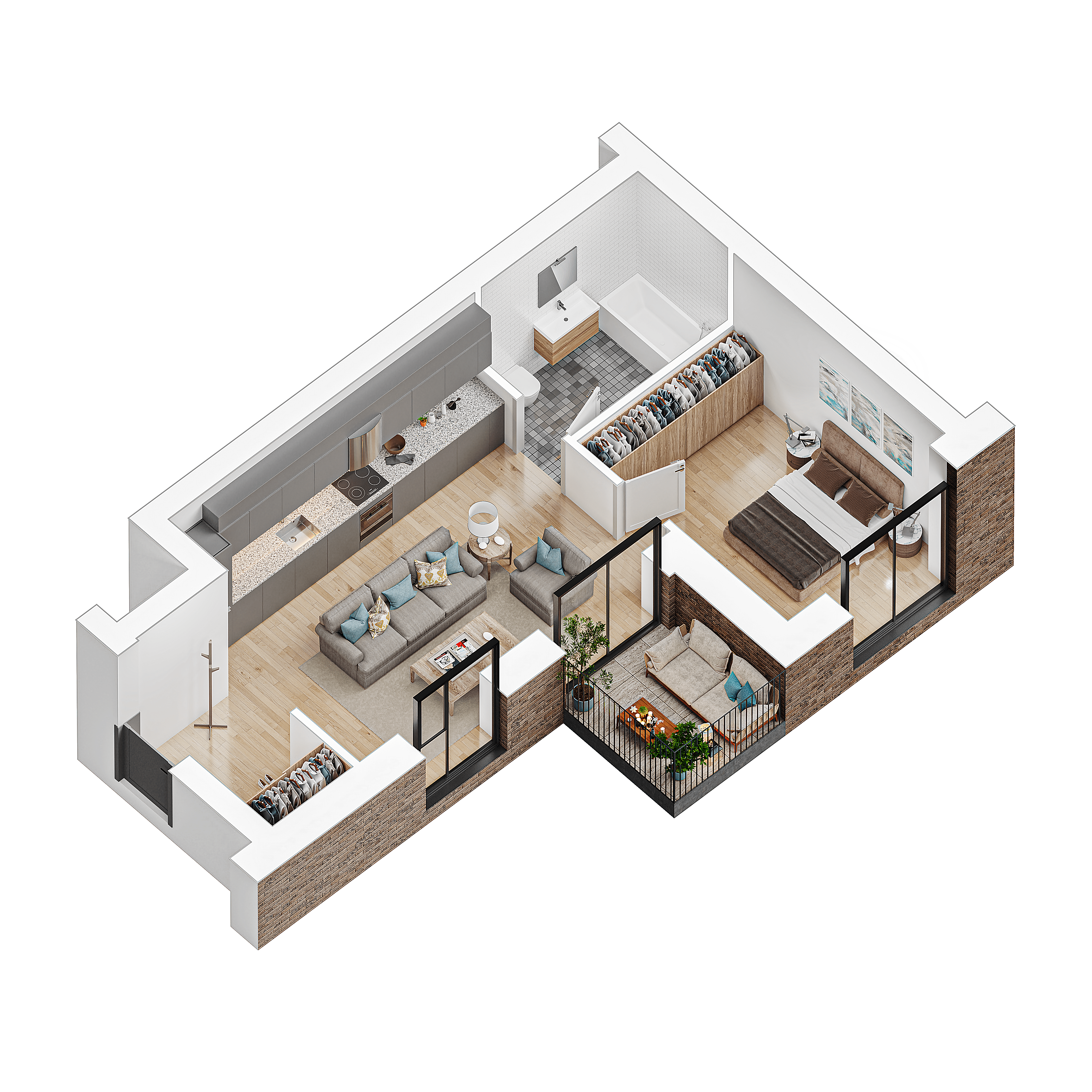 2 kambariu butas klaipedoje pajuryje